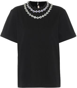 Christopher Kane Crystal-embellished cotton T-shirt