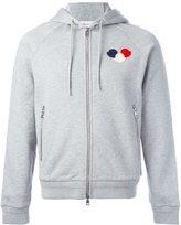 Moncler logo plaque hoodie - men - Cotton - S
