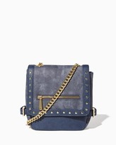 Charming charlie Media Stud Flap Crossbody