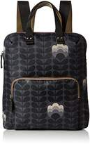 Orla Kiely Womens Buttercup Stem Printed Backpack Tote Backpack
