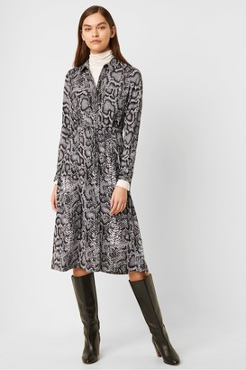 French Connection Snake Print Shirt Dress
