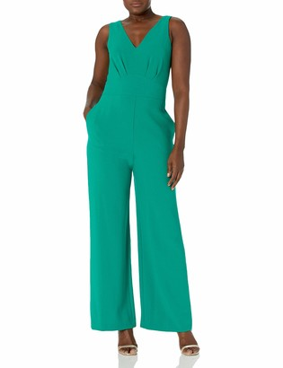 Vince Camuto Womens Double V Jumpsuit