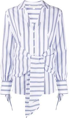 Jonathan Simkhai Striped Tie-Waist Shirt