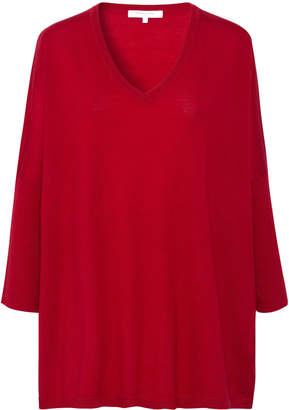 Gerard Darel Oversized V-neck Saly Sweater In Thin Wool