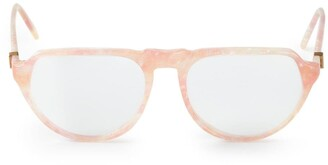Saint Laurent Pre-Owned marble effect glasses