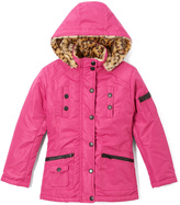 Urban Republic Mirage Pink Leopard-Accent Coat - Toddler & Girls