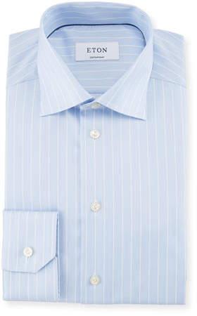 Eton Striped Cotton Dress Shirt