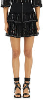 Isabel Marant Women's Flore Tiered Miniskirt-BLACK