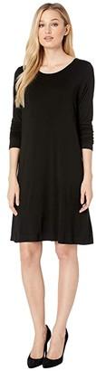 Karen Kane Abby T-Shirt Dress (Black) Women's Dress