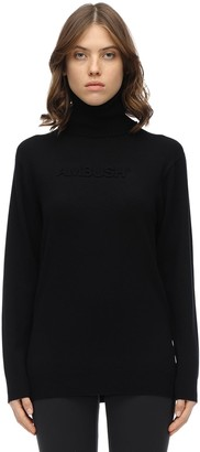 Ambush Embossed Wool Knit Turtleneck Sweater