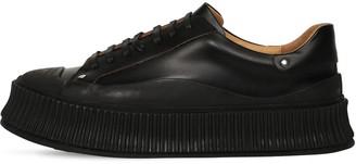 Jil Sander Low-Top Leather Sneakers W/ Studs