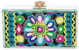 Edie Parker Jean Panel Embroidery Clutch