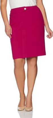 Nine West Women's Plus Size Skirt with Center Front Seam
