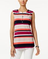 Charter Club Striped Henley Top, Created for Macy's