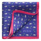 Thomas Pink Elephant Tree Pocket Square