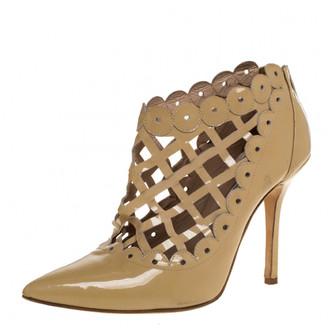 Oscar de la Renta Beige Leather Boots