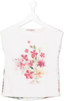 Miss Blumarine floral print T-shirt - kids - Silk/Cotton/Polyester - 4 yrs
