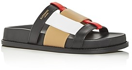 Burberry Women's Ellendale Woven Slide Sandals