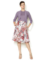 Carolina Herrera Cotton Printed A-Line Skirt