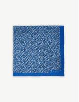 Lanvin Colour-block And Polka-dot Silk Pocket Square