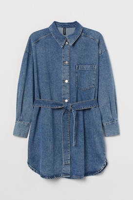 H&M H&M+ Denim shirt dress