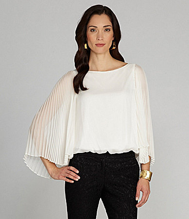 Adrianna Papell Bell Sleeve Bubble Top