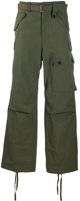 Sacai Wide-Leg Cargo Trousers