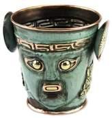 Inca Replica Bronze and Copper Vessel Vase, 'Sun God Ceremony'