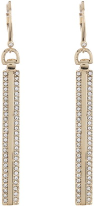 DKNY Crystal Pave Bar Drop Earrings