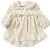 Bonnie Jean Bonnie Baby Girls Newborn-24 Months Pointelle Sweater Coat