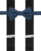 Alfani Blue Bow Tie & Suspender Set, Only at Macy's