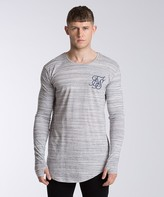 SikSilk High Definition Long Sleeve Marl T-Shirt