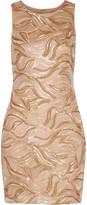 Badgley Mischka Wallis sequined tulle mini dress