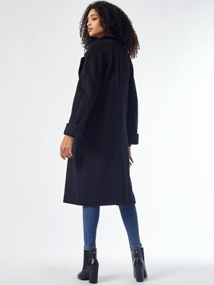Dorothy Perkins Boyfriend Premium Wool Coat -Black