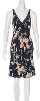 Blumarine Sleeveless Printed Dress