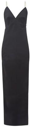 Rick Owens Maillot Shoelace-strap Cotton-blend Dress - Black