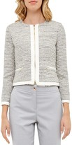 Ted Baker Sparkle Bouclé Cropped Jacket
