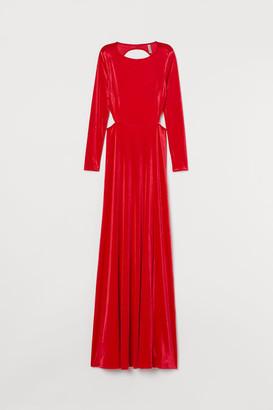 H&M Long Velour Dress - Red