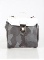 Jam Love London Hillmini Urban Messenger in White Grey Camouflage