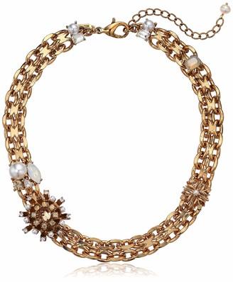 Badgley Mischka Heavy Chain and Stone Necklace
