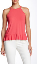 Hip High Neck Peplum Tank