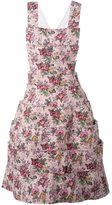 Comme des Garcons floral pinafore dress - women - Cotton/Acrylic/Nylon/Triacetate - S