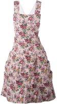 Comme des Garcons floral pinafore dress - women - Cotton/Acrylic/Nylon/Triacetate - S