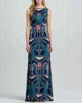 Mara Hoffman Elephant/Peacock Printed Gown