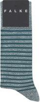 Falke Contrasting Stripes Textured Cotton-linen Socks