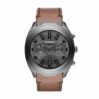 Diesel Men's Chronograph Quartz Watch with Leather Strap DZ4491