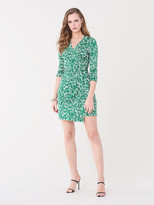 Diane von Furstenberg Miles Silk-Jersey Mini Wrap Dress