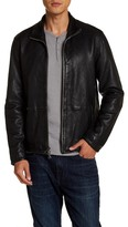 John Varvatos Zip Front Leather Jacket