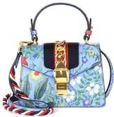 Gucci Sylvie New Flora leather shoulder bag