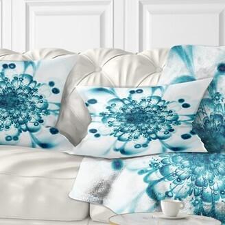 East Urban Home Floral Typical Snowy Fractal Flower Lumbar Pillow